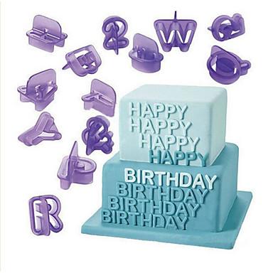بسكويت كعكة البلاستيك اصنع بنفسك عيد ميلاد أداة تزيين