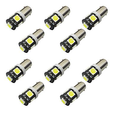 10 قطع bax9s h6w السبورة 1 واط 5 * 5050 سمد ليد القراءة ضوء الضوء الأبيض 6500-7000 كيلو 12 فولت