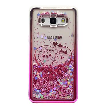 voordelige Galaxy J-serie hoesjes / covers-hoesje Voor Samsung Galaxy J5 (2016) / J3 (2016) / J3 Beplating / Stromende vloeistof / Transparant Achterkant Uil / Glitterglans Zacht TPU