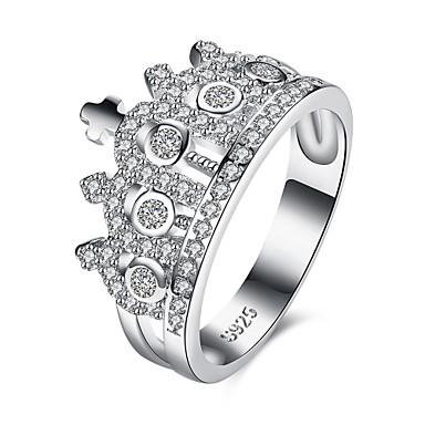 Dames Ring Zirkonia Gepersonaliseerde Luxe Meetkundig Uniek ontwerp Klassiek Vintage Bohémien Standaard Hart Vriendschap Punk