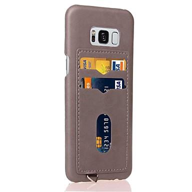 hoesje Voor Samsung Galaxy S8 Plus S8 Kaarthouder Achterkant Effen Kleur Hard PU-nahka voor S8 Plus S8