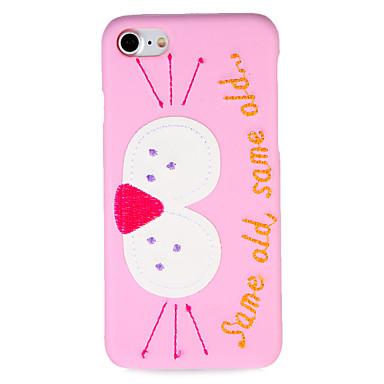 Für Hüllen Cover Muster Rückseitenabdeckung Hülle Wort / Satz Cartoon Design Hart PC für AppleiPhone 7 plus iPhone 7 iPhone 6s Plus