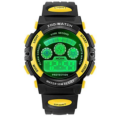 Heren Modieus horloge Digitaal Plastic Band Zwart Wit