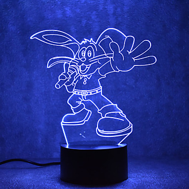 1set Lumini USB LED-uri de lumină de noapte Lumină de noapte Atinge 7-Color USD