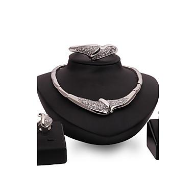 Dames Sieraden Set Bergkristal Gepersonaliseerde Luxe Vintage Modieus Euramerican Opvallende sieraden Feest Speciale gelegenheden
