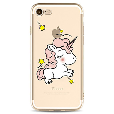 Case For Apple iPhone 7 Plus iPhone 7 Transparent Pattern Back Cover Unicorn Cartoon Soft TPU for iPhone 7 Plus iPhone 7 iPhone 6s Plus