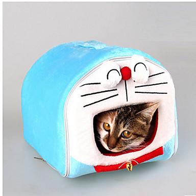 Kat Hond bedden Huisdieren Matten & Pads Cartoon waterdicht draagbaar Zacht Tent Lichtblauw