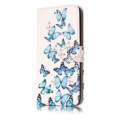 Hülle Für Huawei P9 Lite Huawei Huawei P8 Lite Kreditkartenfächer Geldbeutel mit Halterung Flipbare Hülle Ganzkörper-Gehäuse Schmetterling