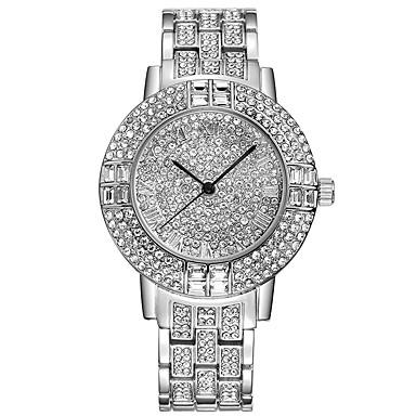 Damen Quartz Pavé-Uhr Armband-Uhr Chinesisch Strass Imitation Diamant Edelstahl Band Charme Luxus Kreativ Freizeit Simulierte Diamant-Uhr