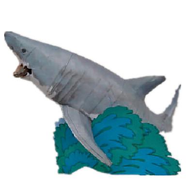قطع تركيب3D نموذج الورق أشغال الورق مجموعات البناء سمك Shark اصنع بنفسك ورق صلب كلاسيكي للأطفال صبيان للجنسين هدية