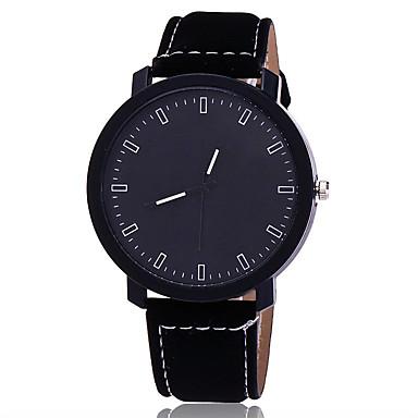 Bărbați Unic Creative ceas Ceas de Mână Ceas Elegant  Ceas La Modă Ceas Casual Chineză Quartz Piele Bandă Charm Casual Elegant Negru