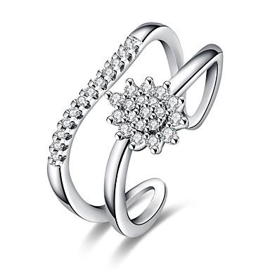 Dames Ring Zirkonia Gepersonaliseerde Luxe Meetkundig Cirkelvormig ontwerp Uniek ontwerp Tatoeagestijl Klassiek Vintage Bohémien