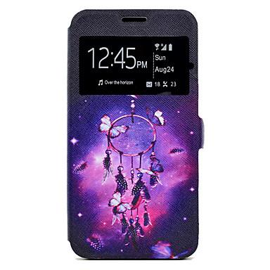 Hülle Für Samsung Galaxy J7 (2016) J5 (2016) Kreditkartenfächer mit Halterung Muster Ganzkörper-Gehäuse Traumfänger Hart PU-Leder für J7