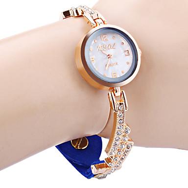 Pentru femei Simulat Diamant Ceas Unic Creative ceas Ceas La Modă Chineză Quartz imitație de diamant Piele Bandă Sclipici Negru Alb