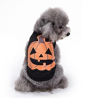 Hond kostuums Hondenkleding Cosplay Halloween Flora / Botanisch Zwart Kostuum Voor huisdieren