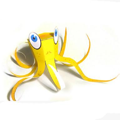 3D-puzzels Bouwplaat Papierkunst Modelbouwsets Vierkant Vissen Octopus 3D DHZ Hard Kaart Paper Klassiek Unisex Geschenk