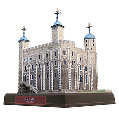 قطع تركيب3D نموذج الورق مجموعات البناء مربع برج بناء مشهور معمارية اصنع بنفسك ورق صلب كلاسيكي صبيان للجنسين هدية