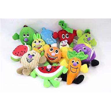 Hundespielzeug Haustierspielsachen Kau-Spielzeug quietschen Frucht Baumwolle Für Haustiere
