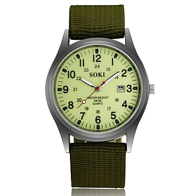cheap Men's Watches-Men's Wrist Watch field watch Black / Brown / Green Water Resistant / Waterproof Calendar / date / day Creative Analog Charm Casual Fashion Elegant Aristo - Brown Green Camouflage Green One Year