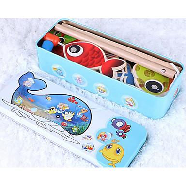 Angeln Spielzeug Bildungsspielsachen Spielzeuge Fische Magnetisch Hölzern Kind Stücke
