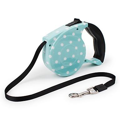 كلب المقاود المحمول الأمان قابل للتعديل منقط ABS نايلون أزرق زهري