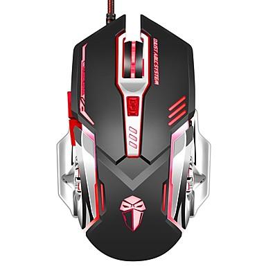 Gaming muis 3200 dpi bedraad programmeerbare 6 toetsen optische x5 muizen met kleurrijke ademhaling