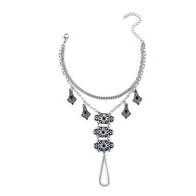 للمرأة أساور السلسلة والوصلة عتيقة سبيكة مجوهرات من أجل لباس يومي ذهاب للخارج