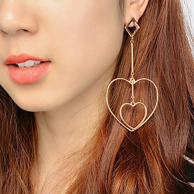 Dames Druppel oorbellen Sieraden Uniek ontwerp Legering Hartvorm Sieraden Voor Feest Speciale gelegenheden  Verjaardag Verloving