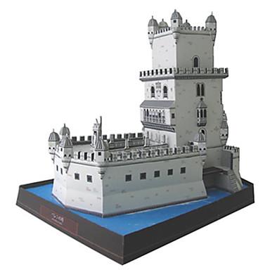 3D - Puzzle Papiermodel Spielzeuge Quadratisch Turm Berühmte Gebäude Architektur Heimwerken Hartkartonpapier keine Angaben Stücke