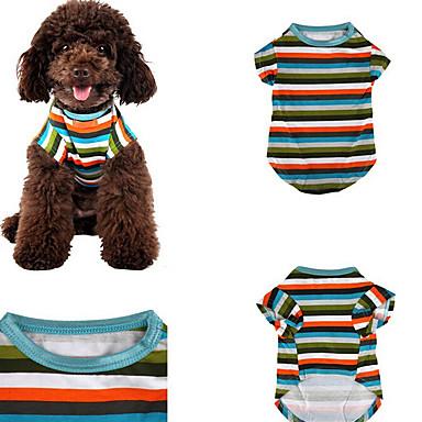 Hund T-shirt Hundekleidung Lässig/Alltäglich Streifen Regenbogen Kostüm Für Haustiere