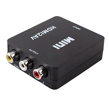 HDMI 1.3 Converter, HDMI 1.3 to 3RCA Converter Mannelijk - Vrouwelijk