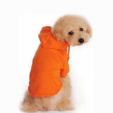 Hond Hoodies Hondenkleding Casual/Dagelijks Effen Zwart Oranje Grijs Rood Kostuum Voor huisdieren