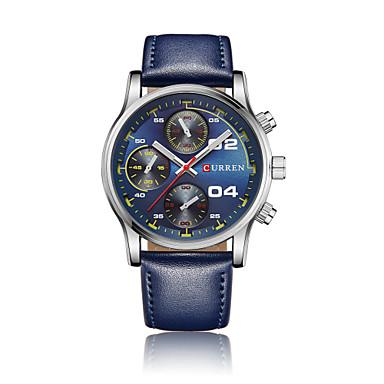 Bărbați Quartz Ceas de Mână Ceas Sport Chineză Calendar Rezistent la Apă Mare Dial Piele Autentică Bandă Charm Creative Unic Watch