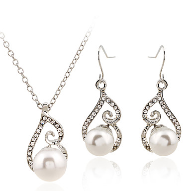 Pentru femei Seturi de bijuterii Inel Lănțișor Metalic Aliaj Metalic Ștras Crom MetalPistol neregulat Curcubeu Confecționat Manual