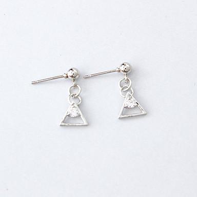 Dames Oorknopjes Bergkristal Modieus Eenvoudige Stijl Legering Driehoek Geometrische vorm Sieraden Causaal