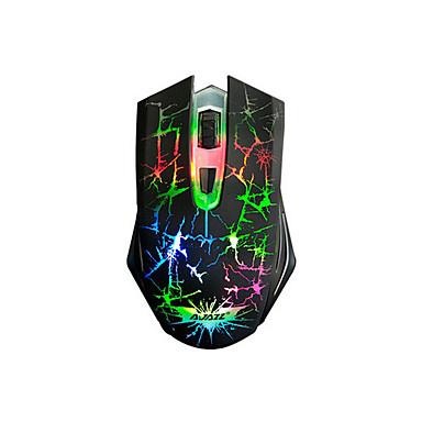 Dark Knight سلكي لعب الفأر DPI قابل للتعديل الخلفية قابل للبرمجة 800/1200/1600/2400