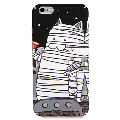 Hülle Für Apple iPhone 7 Plus iPhone 7 Muster Rückseite Katze Cartoon Design Hart PC für iPhone 7 Plus iPhone 7 iPhone 6s Plus iPhone 6s