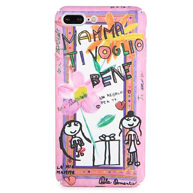 Fall für Apfel iphone 7 plus / 7 Abdeckungsmuster rückseitige Abdeckungsfallwort / Phrase Karikaturblume harter PC iphone 6s plus / 6 plus