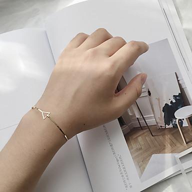 Damen Armreife Modisch Aleación Dreieck Geometrische Form Schmuck Lässig/Alltäglich Modeschmuck Gold Silber