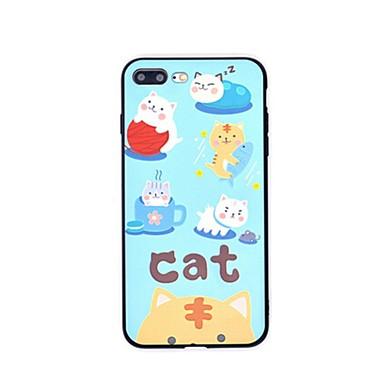 Hoesje voor iphone 7 7 plus cartoon kat tpu bescherming achterhoesje voor 6s 6splus 6 6plus