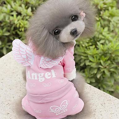 Hund Overall Hundekleidung Engel Engel & Teufel Blau Rosa Baumwolle Kostüm Für Haustiere Herrn Damen Lässig/Alltäglich