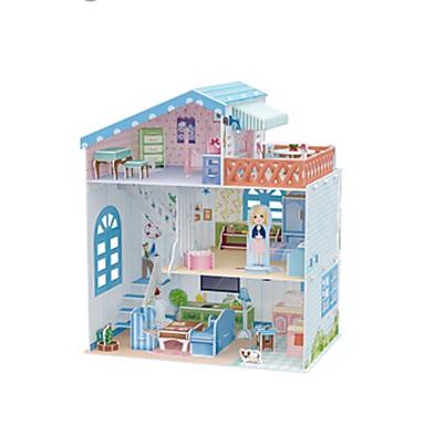 قطع تركيب3D تركيب بيت اللعبة نموذج الورق بناء مشهور خشبي للأطفال فتيات هدية