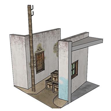 قطع تركيب3D نموذج الورق أشغال الورق مجموعات البناء بيت محاكاة اصنع بنفسك كلاسيكي للجنسين هدية