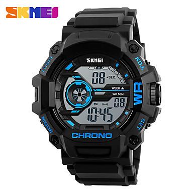 SKMEI Heren Digitaal horloge Polshorloge Modieus horloge Sporthorloge Digitaal Hot Sale PU Band Amulet Zwart Groen