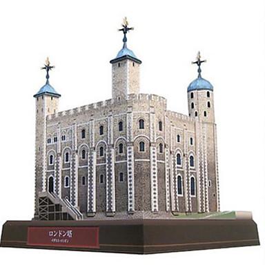 Puzzle 3D Modelul de hârtie Jucarii Pătrat Turn Clădire celebru Arhitectură Reparații Hârtie Rigidă pentru Felicitări Ne Specificat Bucăți