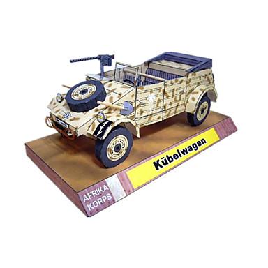 Spielzeug-Autos 3D - Puzzle Holzpuzzle Papiermodelle Quadratisch Auto 3D Simulation Heimwerken Klassisch Unisex Geschenk