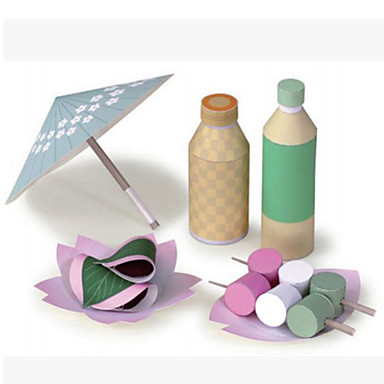 3D-puzzels Speelgoedeten Papierkunst Vierkant Voedsel 3D Kindveilig DHZ Inrichting artikelen Simulatie levensecht Muovi HardKaart Paper