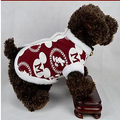 Hond Jassen Hondenkleding Feest Houd Warm Meetkundig Rood