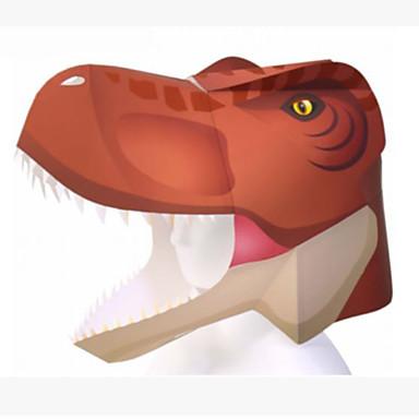 Halloween-Masken Tiermaske Papiermodelle Spielzeuge Tiere Heimwerken Quadratisch 3D Hartkartonpapier Zum Gruseln Klassisch Stücke Unisex
