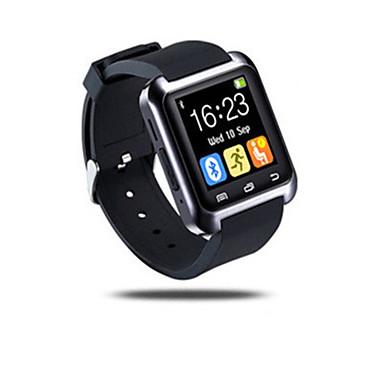 Herrn Smart Uhr digital Caucho Band Schwarz Weiß Rot